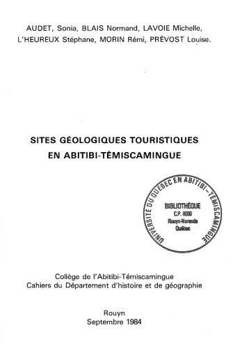 Sites géologiques touristiques en Abitibi-Témiscamingue