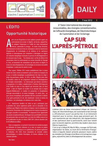 CAP SUR L'APRÈS-PÉTROLE - electro, automation & energy