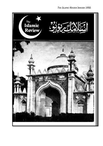 the islamic review janvier 1950 - The Lahore Ahmadiyya Movement ...