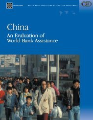 China: An Evaluation of World Bank Assistance - ISBN: 0821359762