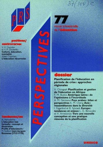 Culture, éducation, mentalité; Prospects ... - unesdoc - Unesco