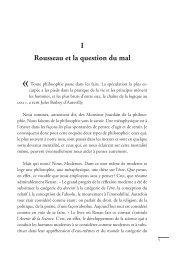 I Rousseau et la question du mal - Les Éditions de l'École ...