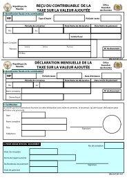 reçu du contribuable de la taxe sur la valeur ajoutée - RRA