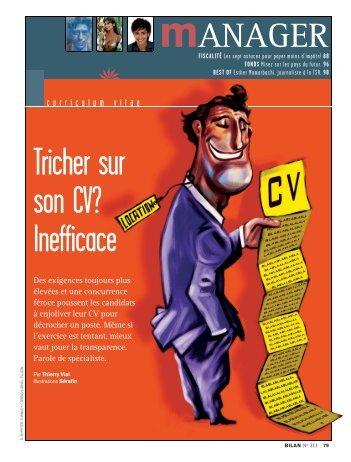 Tricher sur son CV? Inefficace - Stephanehaefliger.com