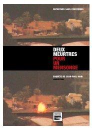 DEUX MEURTRES POUR UN MENSONGE