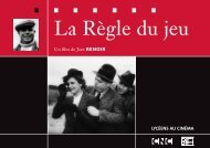 LA REGLE DU JEU - Bibliothèque du film