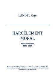 HARCÈLEMENT MORAL - Guylandel.com