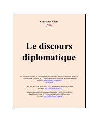 Le discours diplomatique - Les Classiques des sciences sociales ...