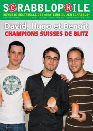 Mars/Avril 2010 - Fédération Suisse de Scrabble