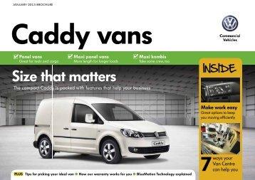 Volkswagen Caddy brochure. - John Clark Motor Group