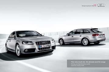 The new Audi A4, A4 allroad and S4 range Pricing and Specification ...