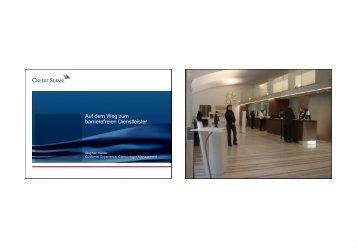 Credit Suisse - Auf dem Weg zum barrierefreien Dienstleister