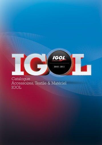 Catalogue Accessoires, Textile & Matériel IGOL