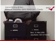 Bessere Websites dank MashUps und Feeds - Namics Weblog