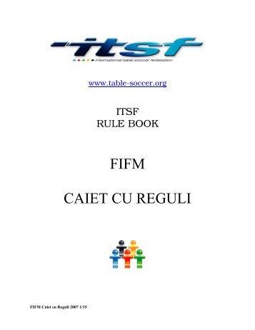 FIFM CAIET CU REGULI