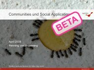 Communities und Social Applications [pdf, 6.5]