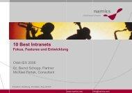 10 Best Intranets: Fokus, Features und Entwicklung - Namics Weblog
