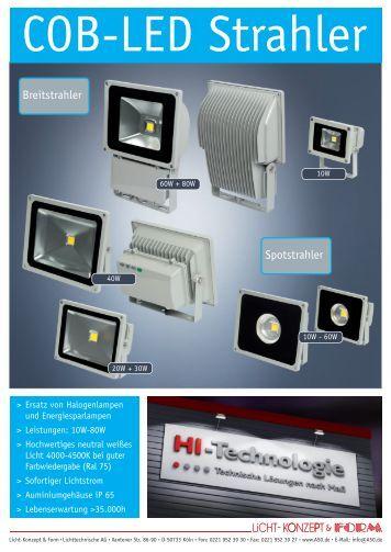 COB-LED Strahler 10W/120