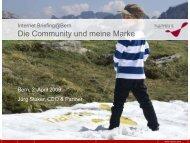 Die Community und meine Marke [2,8 MB] - Namics Weblog
