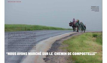 """""""NOUS AVONS MARCHÉ SUR LE CHEMIN DE COMPOSTELLE"""""""