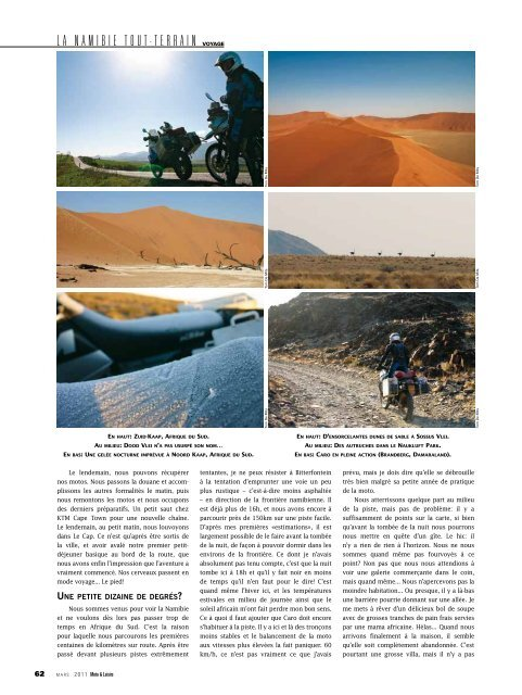 Moto et Loisirs (january 2011): Namibie