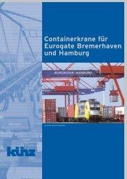 Containerkrane für Eurogate Bremerhaven und Hamburg