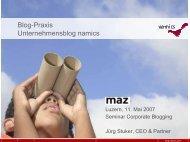 Unternehmensblog namics [pdf, 2.4 MB] - Namics Weblog