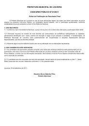 PREFEITURA MUNICIPAL DE LOUVEIRA ... - Assessorarte