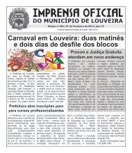 Carnaval em Louveira: duas matinês e dois dias de desfile dos blocos
