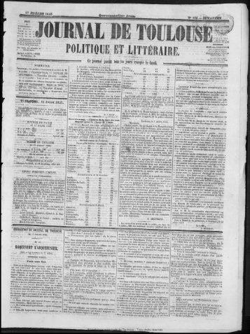 POLITIQUE CT LITTJJiAJBE. - Bibliothèque de Toulouse