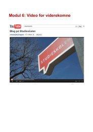 Modul 6: Video for viderekomne - Studieskolen blog