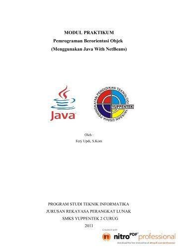 MODUL PRAKTIKUM (Menggunakan Java With NetBeans ...