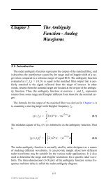 Fundamentals of Radar Signal Processing Some MATLAB Tutorials