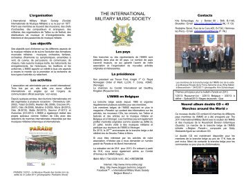 download IMMS Flyer Belgium 2013 - International Military Music ...