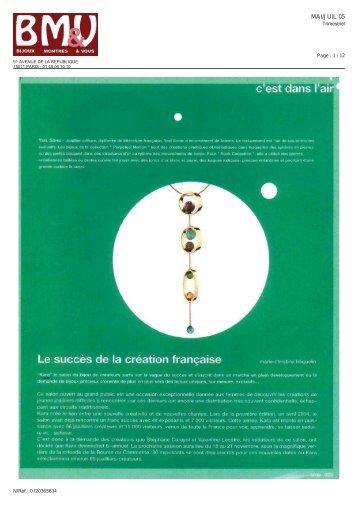 Le succès de la création française - Kara-expo
