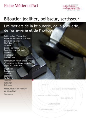 joaillier - sertisseur - polisseur Télécharger au format PDF