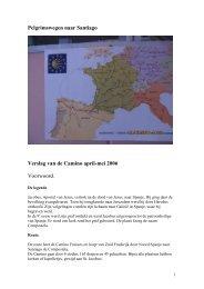 Verslag van de Camino april-mei 2006 - SeniorenNet
