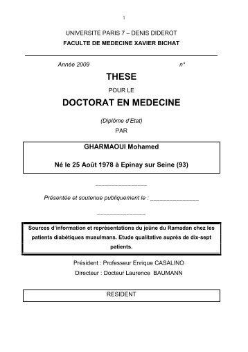 Thèse final - Département de médecine générale