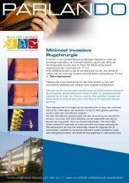 Minimaal Invasieve Rugchirurgie - SeniorenNet