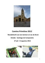 Camino Primitivo 2012 - SeniorenNet