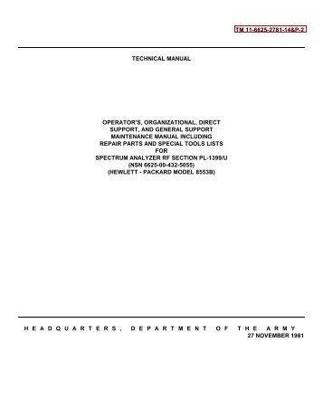 TM 11-6625-2781-14&P-2 TECHNICAL MANUAL OPERATOR'S ...