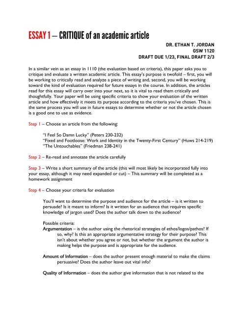 How to Use Evaluation Essay Samples on Practice