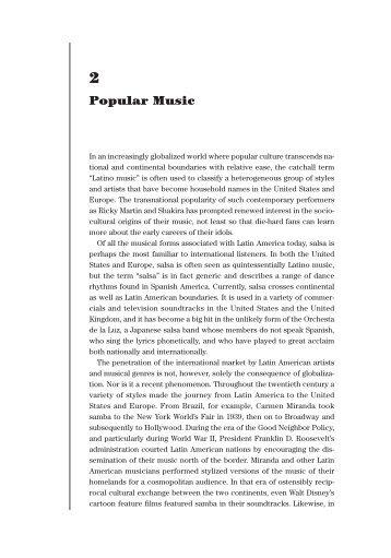 Music (Pop Culture in Latina America) - BGSU Blogs