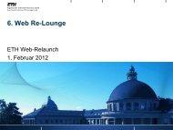 ETH Web-Relaunch Projektplanung 2012
