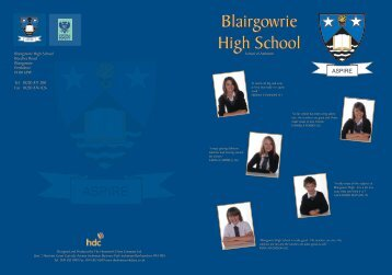 Blairgowrie High School Blairgowrie High School - Central ...