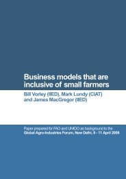 Business models that are inclusive of small farmers - IIED pubs