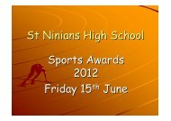 Sports Awards Winners
