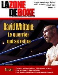 Le seul magazine au Québec dédié uniquement ... - La Zone de Boxe