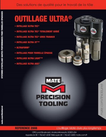 OUTILLAGE ULTRA® - Mate Precision Tooling