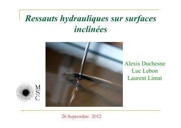 Ressauts hydrauliques sur surfaces inclinées - FAST